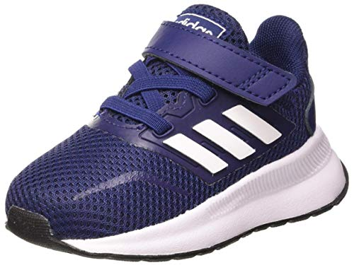 adidas Unisex Baby Runfalcon Indoor Laufschuh, DKBLUE/FTWWHT/CBLACK, 22 EU