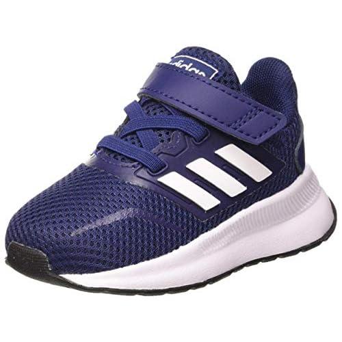 adidas RUNFALCON I, Scarpe da Ginnastica Unisex-Bambini, Dark Blue/Ftwr White/Core Black, 21 EU