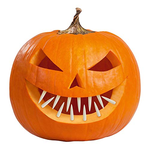 amscan 9907474-Dientes decoración, Calabaza, Halloween, Fiesta temática