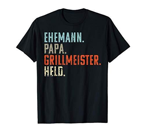 Herren Ehemann Papa Grillmeister Held: Vintage Geschenk Weihnachten T-Shirt