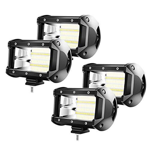UISEBRT 4 x 72W Zusatzscheinwerfer LED Offroad Scheinwerfer - Arbeitslicht Arbeitsscheinwerfer 21600LM 10-30V 6000K Wasserdicht IP67 (4 x 72W)