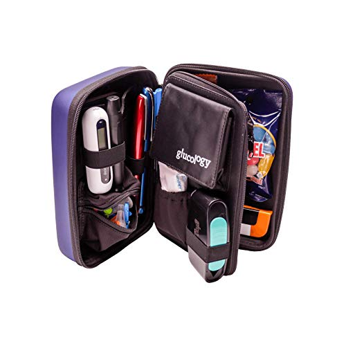 Custodia Da Viaggio Glucology – Organizer Viaggio Per Accessori - Custodia Rigida (Extra grande, Blu)