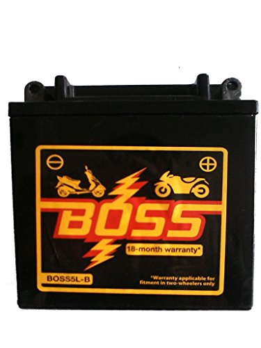 BOSS 5LB Sealed Bike Battery - Zero Maintenance - Bajaj, Suzuki,...