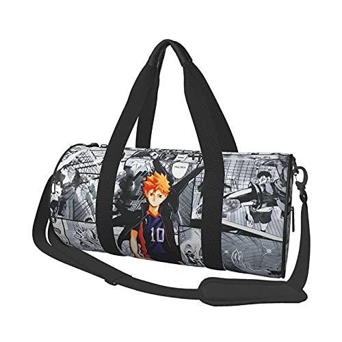 Haikyuu Bolsa de viaje Folle Gym Bag Bolsas de viaje, para deportes militares, camping, actividades al aire libre, bolsa de mano, juegos de 47 x 22 cm