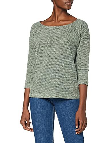 ONLY Damen ONLALBA 3/4 TOP JRS NOOS T-Shirt, Grün (Green Bay Green Bay), X-Large (Herstellergröße: XL)