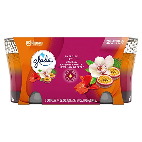 Glade Candle Jar Hawaiian Breeze & Vanilla Passion Fruit, 3.4 Oz, 2 Count Now $3.02 (Was $5.99)