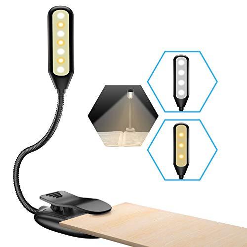 DoRight Lampada da Lettura 20 LED Lampada Libro con Pinza 9 Livelli di Luminosit/à Luce per Lettura 360/° Flessibile Touch Control Lampada da letto Lampada da Libro per Letto,Tablet