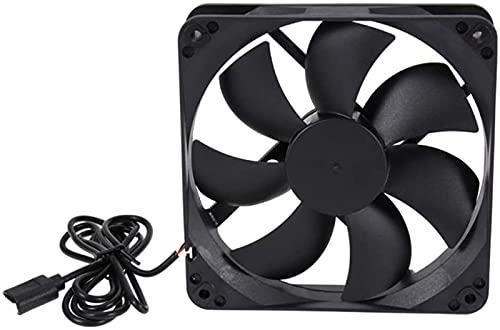 HUAXUE Mini fam, 120mm USB Fan Fan Funda de la computadora Fans DC 5V Ventilador Axial Airflow Grande Sin escobilla Ventilador USB Compatible para Tablet Receptor, Negro (Color : Black)