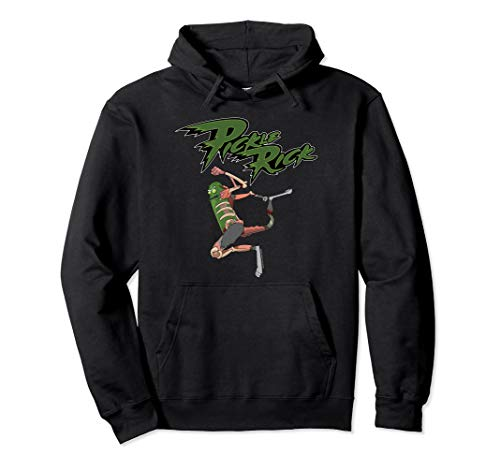 Rick and Morty Jumping Pickle Rick Pullover Hoodie