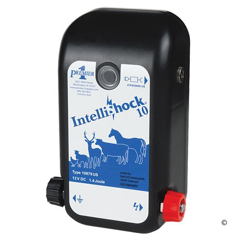 Premier IntelliShock 10 AC/DC Fence Energizer, 1 Joule
