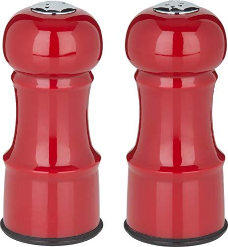 Trudeau 0714097 4.5' Salt & Pepper Set Salt and Pepper Shakers, Burgundy