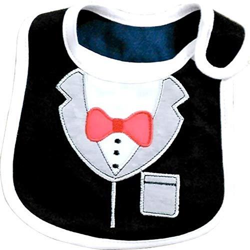 Steellwingsf Lätzchen mit süßer Fliege, formelles Anzug, für Kleinkinder, Jungen, wasserfest, Speicheltuch