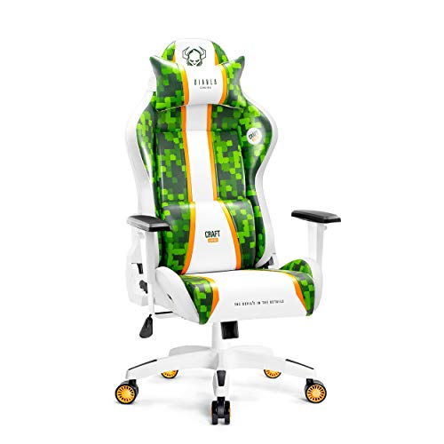 Diablo X-One 2.0 Silla Gaming Gamer Oficina Sillon de Ordenador Reposabrazos Ajustables Cuello/Cojín Lumbar Diseño Ergonómico (Craft, Normal)