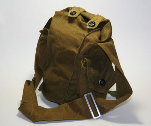 Vintage Soviet Gas Mask Canvas Carrier Bag Military Army