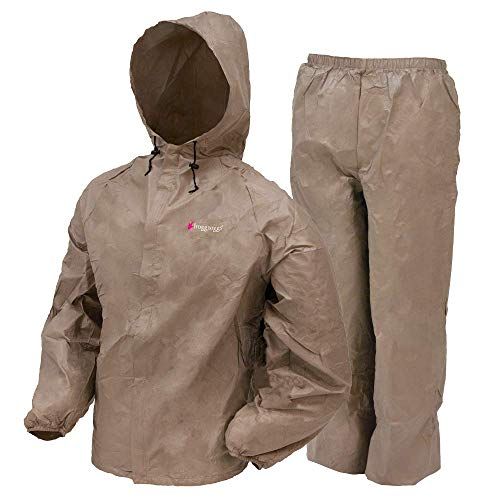 Frogg Toggs Ultra-Lite2 Water-Resistant Breathable Rain Suit, Men's, Women's, and Youth Styles Available, Khaki, Women's, Size Medium