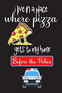 I live in a place where pizza: 150 Pages Blank Dot Grid Paper | Funny Pizza Notebook, Journal, Dairy to write in | Perfect...