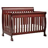 DaVinci Kalani 4-in-1 Convertible Crib in Rich Cherry | Greenguard Gold Certified