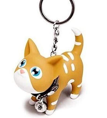 aolongwl Llavero Llavero Lucky Cat para Damas Nuevas Dibujos Animados Mujeres Gato llaveros Encanto Bolsa Accesorios Colgante Regalo para Las Mujeres llaveros del Coche Yellow