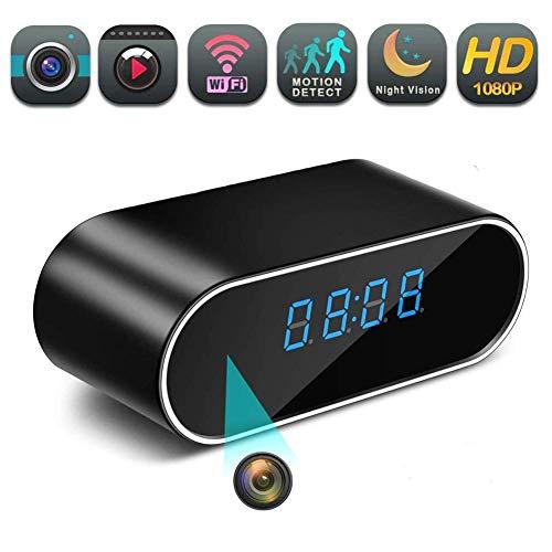 Oculta espía reloj de la cámara inalámbrica Wifi 1080P turística del sensor de movimiento del reloj Hidden Cameras Con Wireless sueño del bebé monitor con Nueva APP LMMS