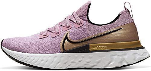 Nike - Zapatillas de correr para mujer, Morado (Ciruela Niebla/Negro metálico dorado), 41 EU
