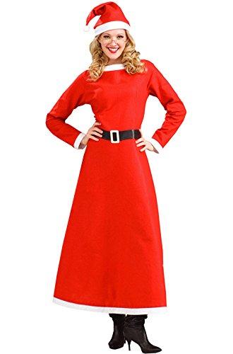Forum Novelties Women's Simply Mrs. Santa Claus Christmas, Multi, Standard