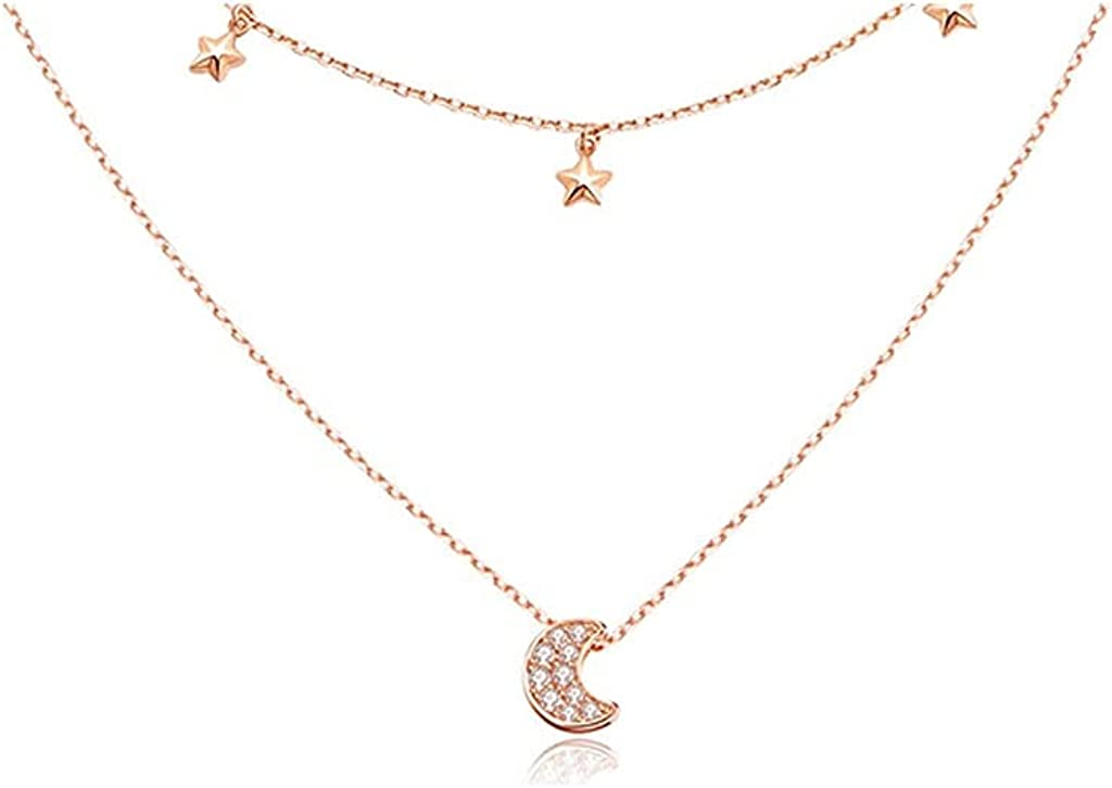 Necklaces Double-layer Low price Manufacturer direct delivery Moon for with Stars