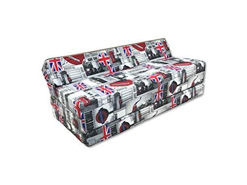 Natalia Spzoo Colchón plegable cama de invitados forma de sillón sofá de espuma 200 x 120 cm (London)