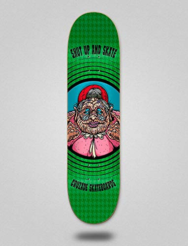 lordofbrands Cruzade Monopatín Skate Skateboard Deck Tabla Shut UP and Skate 8.5