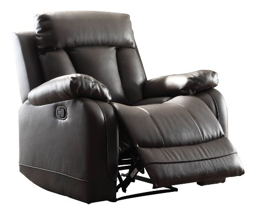 Homelegance Double Reclining Loveseat, Bonded Leather Match, Grey