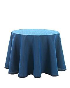 Martina Home Ribero - Falda para mesa camilla , Azul, Redonda de 80