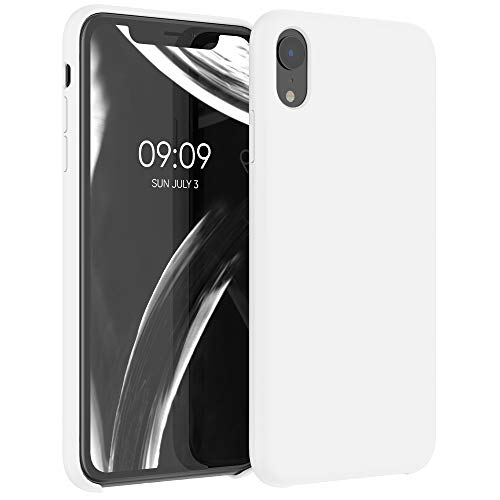 kwmobile TPU Silicone Case Compatible with Apple iPhone XR - Case Slim Protective Phone Cover with Soft Finish - White