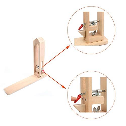 Dyna-Living Leder nähen Werkzeug Holz Leder Handwerk Hand Nähen DIY Leder Werkzeug Hand Nähen Clip Clamp Tools