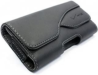 Premium Verizon Leather Pouch Side Case Holster Swivel Belt Clip Cover for Verizon HTC One Remix - Verizon HTC Rezound - Verizon HTC Windows Phone 8X - Verizon LG Lancet