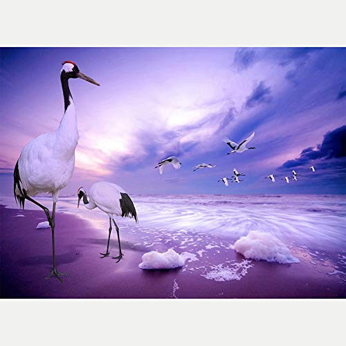 Crane Jigsaw Puzzle-1000 Pieces Children's Jigsaw Puzzle-DIY Jigsaw Puzzle Game for Adults