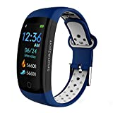 Smartwatch for Mens/Women/Kids/Heart Rate,Blood Pressure, Activity Fitness Tracker,Sleep Monitor,Wristband Smart Watches for Android Phone iPhone,Waterproof,3D ColorTouch Screen,Bluetooth Sport (Blue)