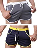 Rexcyril Men's Running Workout Bodybuilding Gym Shorts Athletic Sports Casual Short Pants X-Large...