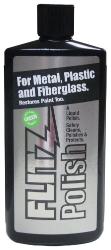 Flitz - LQ 04506 Multi-Purpose Polish and Cleaner Liquid for Metal, Plastic, Fiberglass, Aluminum, Jewelry, Sterling Silver: Great for Headlight Restoration + Rust Remover, 16 oz