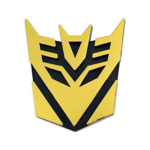 Transformer Decepticon Auto Emblem - [Gold][3'' Tall]
