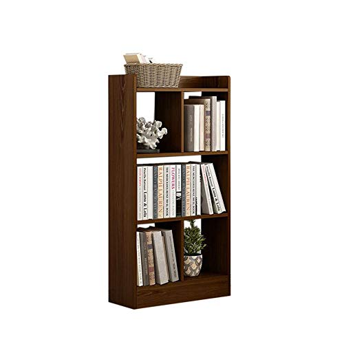 JCNFA-BOEKENPLANK Moderne boekenkast combinatie boekenkastje slaapkamer opslag Goodrail vergroten, veiligheidsbeel open multi-zone opslag (Color : Brown, Size : 23.62 * 9.44 * 47.24in)