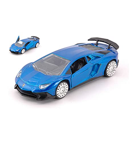 Jada Toys Models KOMPATIBEL MIT Lamborghini Aventador SV METALLIC Blue cm 12,5 DIECAST JADA30109BL