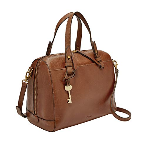 Fossil Women's Rachel Leather Satchel Handbag, Brown