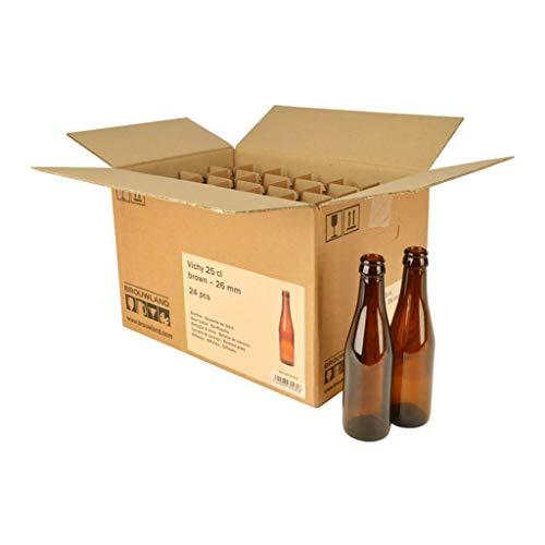 Vichy Lot de 24 bouteilles de bière Marron 26 mm 25 cl