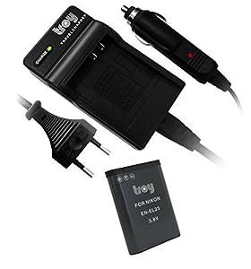 Troy Batería + Cargador para Nikon EN-EL23Adecuado para: Nikon Coolpix B700P600P610S810C P900