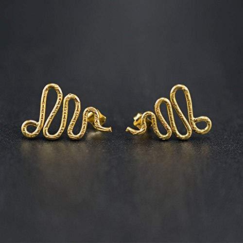 Schlange Ohrringe minimalistische Ohrringe Goldohrstecker hypoallergene Ohrringe Gold Ohrstecker Schlange Ohrringe lockige Ohrringe Geschenk für Frau Mutter