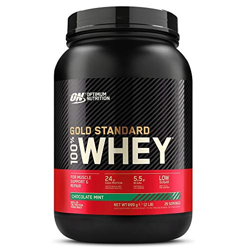 Optimum Nutrition Gold Standard 100% Whey Protein Powder - 908 g, Chocolate Mint