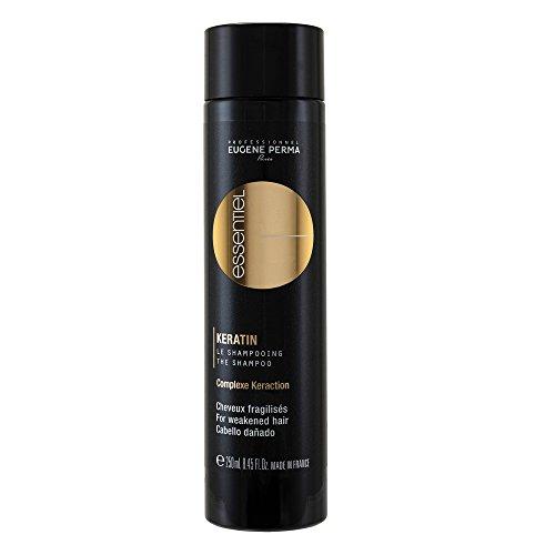 ESSENTIEL Keratin Shampooing Réparation Ultime pour Cheveux Fragilisés, Cèdre, 250 ml