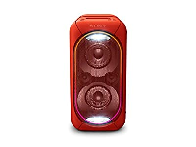 Sony GTK-XB60 High Power One Box Music System with Built-in Battery and Lighting Effects - Red,GTKXB60R.CEK from Sony