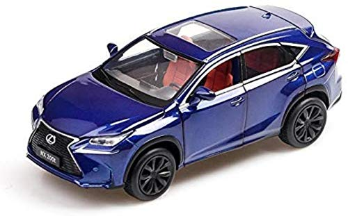 hclshops Modelo de automóvil Lexus Nx200t Modelo de 1,32 Simulación Simulación de fundición de aleación Modelo de Regalos for niños (Color, Azul metálico), Plata Metalizado