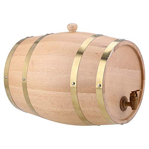 TAKE FANS Barril de Vino 10L Dispensador de Barril de Vino de Madera de Roble Vintage para Whisky Tequila