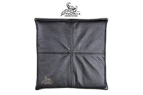 Centaur - Sitzkissen 40 x 40cm handgefertigt aus Leder schwarz - Lederkissen Polster als Auflage für Sitzbank, Stuhlkissen für Bank, Bankauflage - Sitzbankkissen Lederoptik - Made in Germany